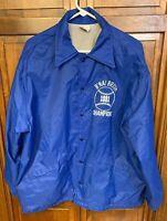 B'nai Brith 1981 Baseball Coaches Button Up Jacket Royal Blue Men XL Sport Chief