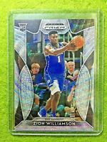 ZION WILLIAMSON ROOKIE CARD PRIZM BLUE WAVE #/299 RC SP PELICANS 2019 Prizm DUKE