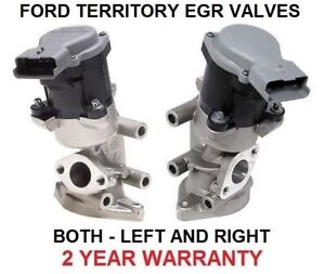 EGR VALVE for FORD TERRITORY TDCI EXHAUST GAS SZ 2.7 TURBO DIESEL LEFT + RIGHT