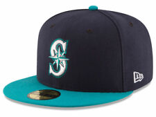 New Era Seattle Mariners ALT 59Fifty Fitted Hat (Dark Navy/Teal) MLB Cap