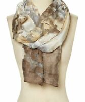 Brown Abstract Soft Viscose Scarf Fashion Women Accessories Scarves Gift For Her