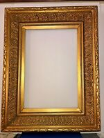 LARGE ANTIQUE FANCY ORNATE GOLD GILT WOOD FRAME
