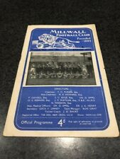 Millwall FC v Exeter City FC Programme 1957