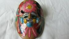 Small Mexican terra cotta pottery mask aztec wall art terracotta clay