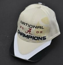 ALABAMA CRIMSON TIDE 2009 National Champions Hat Cap Football Silhouette NOS
