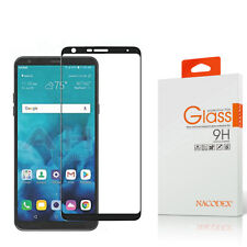 Nacodex For LG Stylo 4 2018 Full Cover Tempered Glass Screen Protector -Black