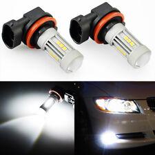 JDM ASTAR 2x 1300LM H11 H8 High Power 6000K White LED Fog Driving Light Bulbs