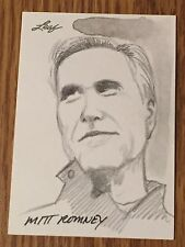 Mitt Romney 2012 Leaf National Exclusive Sketch Card #1/1