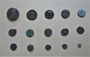 Metal Detecting Finds Lot of 15 Roman coins