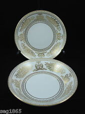 TWO WEDGWOOD GOLD COLUMBIA 5 INCH FRUIT BOWLS