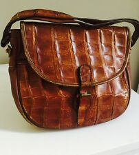 Genuine Vintage Lizard Skinv& leather bag made in italy