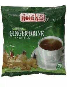 Gold Kili Natural Instant Ginger Tea Drink, 360g Bag (20 Sachets)-USA SELLER