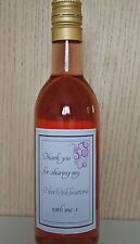 10 x Mini Hen Night Bridal Party Wine Bottle Labels, Hen Do Gifts