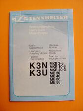 Sennheiser K3N  K3U User's Guide