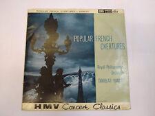 "Douglas Gamley Popular French Overtures (XLP 20008) 12"" Vinyl LP HMV 1959 VG/G"