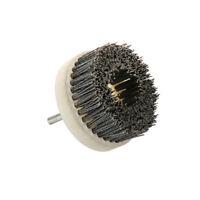 """4"""" 100mm  Nylon Abrasive Wire Polishing Wheel Brush for Wood 8mm Shank 180 Grit"""