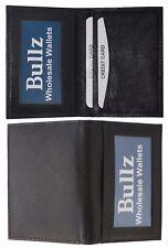 Leather Wallet  Card Case Front Pocket Thin Slim ID Window Credit Card Black Men