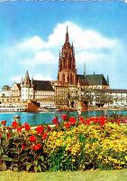 Frankfurt am Main , Mainpartie und Dom , Ansichtskarte