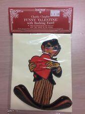 NIP Rare  Vintage  Charlie Chaplin Valentine Diecut Card Mechanical