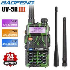 Upgraded BAOFENG UV-5R III Tri-Band Walkie Talkie Green Two Way Radio Long Range