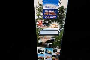 Sunforce 1.8 Solar 12V Battery Maintainer, Boats, Autos, RVs TWO per Box New!