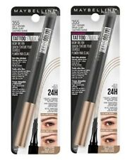 Set of 2 Maybelline Tattoo Studio 24Hr Brow Tint Pen Makeup 355 Soft Brown