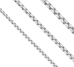 Veneziakette rund 925 Silber, Venezianer Kette L42-90cm (von 1,9mm bis 7mm)