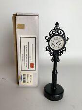"New ListingLefton Colonial Christmas Village Figurines 6"" Metal Victorian Clock Tcm00219"