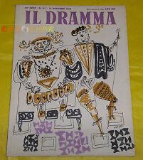 IL DRAMMA 1950 n. 121 - Copertina Emanuele Luzzati - Opere: vedi inserzione
