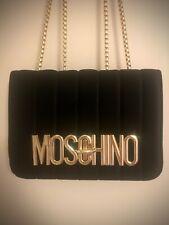Faux moschino black velvet chain Bag