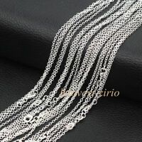 "Wholesale 5Pcs 1.4mm 925 Sterling Solid Silver ""O"" Rolo Chain Necklace 16""-28"""