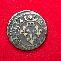 #1682 - RARE - Double tournois Gaston 1641 belle qualité - FACTURE