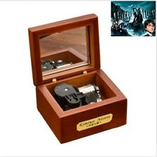 18 Note Wind-up Wooden Music Box with Mirror ♫ Harry Potter Hedwigs Theme ♫