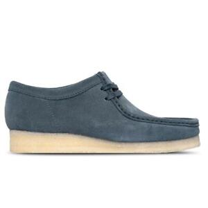 NEW IN BOX! MENS CLARKS CLASSIC Wallabee Blue CASUAL SHOES 26160203 SIZE 8-12