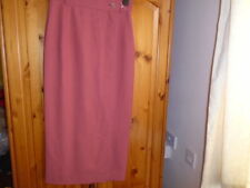 Terracotta pink / brown wrapover calf to maxi skirt, MULBERRY, size 10 worn once