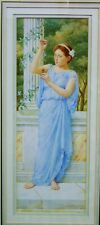 """Watercolour of Young Lady in Grecian Dress """"The Amulet"""" Rene Hall-Bolt c1910"""