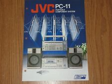 JVC Portable Stereo Boombox PC-11 Component Original Brochure Catalogue