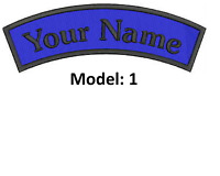 CURVE CUSTOM EMBROIDERED NAME TAG Sew on patch Quality Badge