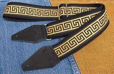 GREEK KEY Cotton USA made TROPHY Guitar Strap