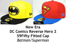 NEW ERA DC COMICS REVERSE HERO 2 59FIFTY FITTED CAP - BATMAN/SUPERMAN