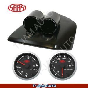 Gauge Pod for Ford Falcon FG MKII FGX Black + Boost + Oil Press S/L
