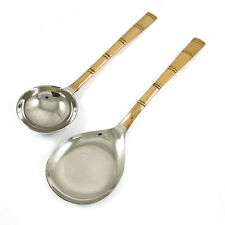 Special Traditional Indian Stainless Steel Copper Plated Serving Spoon Set Table