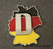 GERMANY German D Deutschland Map Flag Car Badge Emblem Decal Sticker Boot 112