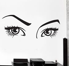 Wall Vinyl Decal Eyes Beauty Hair Salon Sexy Cool Amazing Decor Mural z3819