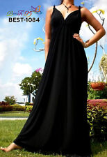 V Neck Casual Geometric Maxi Dresses for Women
