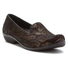 DANSKO Ladies OLIVIA Snake Leather Loafers BRONZE /BLACK  Sz. 5.5-6 M (36)  NIB
