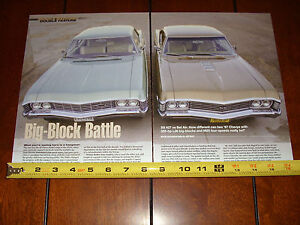 1967 CHEVROLET SS 427 vs. 1967 CHEVROLET BEL AIR 427 - ORIGINAL 2014 ARTICLE