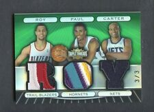 2007-08 Vince Carter Brandon Roy Chris Paul Triple Threads Jersey # Roy Patch /3