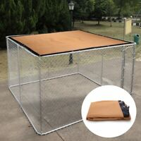 10x10ft Shade Cage Shelter UV Rated Dog Kennel House Cover Grommet Outdoor Beige