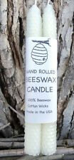 """Honeycomb - 100% Beeswax Candles, One Pair of 8"""" Tapers - White (Free shipping!)"""